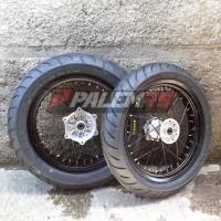 Wheelset Supermoto KLX 230 Paket Ban Velg 17 Tromol KLX230