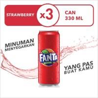 Fanta Strawberry - Kaleng 330mL x 3pcs