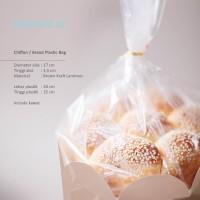 [Digipack] Brown Tray Chiffon Plastic Bag Dia.17 | Plastik Kue
