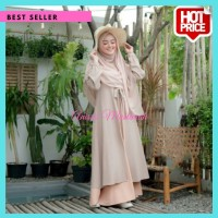 Mufida Dress S M L XL | Gamis Muslim Terpopuler | Fashion Muslim AM