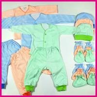 set baju bayi new born motif strip 0-3 bln