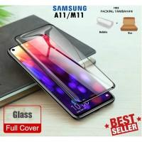 Tempered Glass Samsung A11 M11 Full Glue Warna Cover Anti Gores Kaca