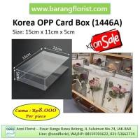 Korea OPP Card Box (1446A), kotak mika, box mika, aksesoris toko bunga