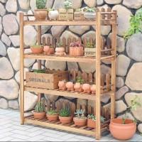 rak kaktus/rak tanaman/rak kayu/rak display/rak pajangan/rak cantik