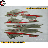 stiker/striping Motor yamaha mio sporty 2006 Silver - Merah