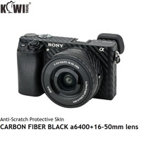 Anti-Scratch Protective Skin Film Black for Sony a6400+16-50mm lens