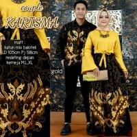 Baju batik couple gamis anak muda model modis kombinasi Balotelli