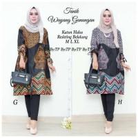 Model Baju Batik Cewe Kekinian Trend 2018 Tunic Wayang Gunungan
