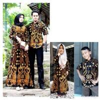 Baju batik couple gamis keluarga anak muda modis model kombinasi