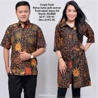 baju couple batik keluarga bahan katun terbaru 2018