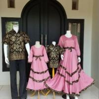 Baju batik couple keluarga gamis jumbo anak muda muslim modern modis