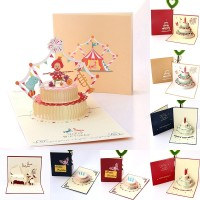 Hot New 3D Pop-up Greeting Card Love Romantic Birthday Christmas