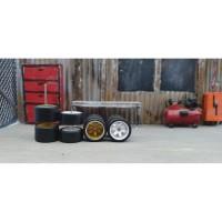 Ban Karet Hotwheels model TE37 ukuran 10 10 (Belakang Tapak Lebar) RWB