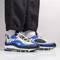 Sepatu Sneakers Nike Air Max 98 White Blue 640744-400 Original BNIB