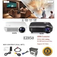 EZZRALE EZ850 Basic Projector Presentation Exclusive 4000 Lumens NW - Hitam
