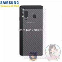 Samsung A8 Star Anti Gores Belakang Skin Carbon Karbon Garskin