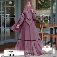 6812 Dress syari baju lebaran gamis purple muslimah cantik 6814