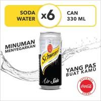 Schweppes Soda Water - Kaleng 330mL x 6pcs