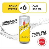 Schweppes Tonic Water - Kaleng 330mL x 6pcs