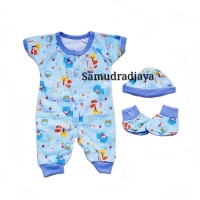 Jumper 0-6 bln sleepsuit SNI jumpsuit set baju bayi baru lahir newborn - Kuning
