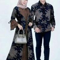 Baju Gamis Couple Batik Sarimbit M L XL Jumbo