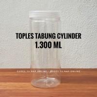 Toples Tabung Cylinder 1,3 Liter - Toples Jar Plastik 1300 ml / 1300ml