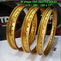 VELG TDR - RIM TDR 250 RING 17 W SHAPE GOLD MATTE