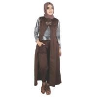 RNYACX setelan baju kerja formal syar'i wanita perempuan muslimah