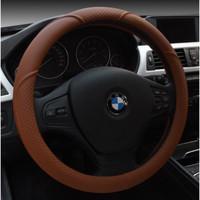 NEW Sarung Cover Stir Setir Mobil Anti Slip Kulit Sport Motif Silang a