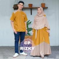 Baju Couple Rizky Jumbo Couple Gamis Muslimah Big Size Model Terkini