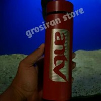 botol antv termos Tumbler merah Custom logo ukir Grafir nama kado