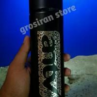 botol antv hitam termos Tumbler Custom logo ukir Grafir nama kado