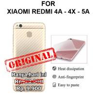 Skin carbon Xiaomi Redmi 4A - 4X - 5A garskin anti gores body belakang