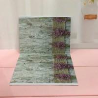 Alas Foto 3D Background Foto 3D A1 motif bunga bakung pink dan karpet