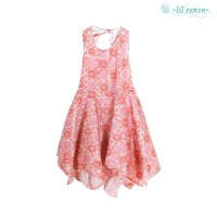 Batik Dress/Batik Viscose/Dress/Lilnotre/Flora Dress /Light Orange
