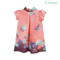 Lilnotre Dress Anak/Batik Tulis Anak Perempuan/Ashlyn/Light Orange