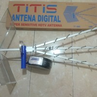 Antena UHF digital Titis plus kabel 20meter Matrix bonus jek L