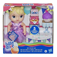 Baby Alive Party Present Baby Blonde Hair Doll original paling murah