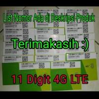 Nomor Cantik Perdana Cantik Tri 3 Three 11 Digit Seri Triple 4G LTE A
