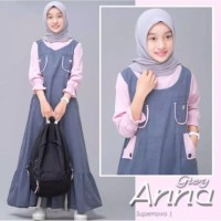 Fashion Muslim / Gamis Anak (Remaja) Zanita Grey