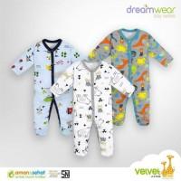 Baju Bayi / Velvet Sleepsuit / Velvet Dreamwear Tutup Kaki BOY (VIII)