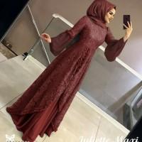 Baju wanita muslim/baju gamis/ Maxi pevita/warna merah maroon