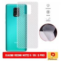 Garskin Carbon Xiaomi Redmi Note 9 Pro 2020 Anti Gores Bagian belakang