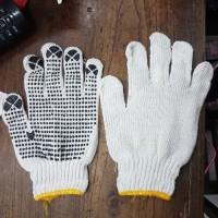 Sarung Tangan Bintik Katun Kain Proyek Kerja Per pasang Safety Glove