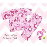 Piyama Katun Anak Hello Kitty Sakura Pink