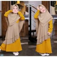 BAJU BUSANA MUSLIM ANAK Set Baju Muslim anak perempuan / baju ngaji