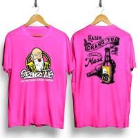 Kaos distro pria Orang Tua Botol DB T-shirt pria Baju pria Atasan pria