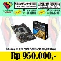 Motherboard MSI H110M-PRO VH PLUS LGA1151 H110 DDR4.