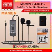 MAMEN KM-D2 Pro Dual Clip On Lav Mic Microphone for Camera Smartphone