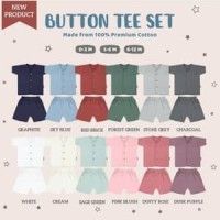 Baju Bayi Little Palmerhaus Button Tee Set - Baju Setelan Bayi Polos